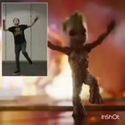 James Gunn doing Baby Groot Dance
