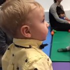 A baby's reaction to hearing the violin for the first time