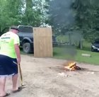 WCGW if I sledgehammer a can of hairspray on this fire?