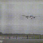 Insane sideways landing at bristol airport.