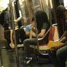 Don't let anything stop you from practicing, not even being stuck on the subway