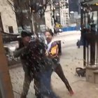 Guard gets assaulted in Chicago, pulls out weapon