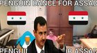 PENGUIN DANCES FOR THE GLORY OF ASSAD AND SYRIA