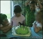 Aw man not the cake... who invited that kid?