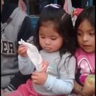 Little Girl With a Magic Trick for You