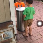 Kids can find entertainment with literally anything even a trash can