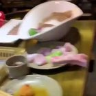 Raw chicken breast crawls off restaurant table in horrifying video