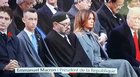 King of Morocco is bored at Armistice Day. Trump is not impressed.
