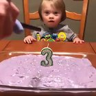 This little girl's reaction to blowing her 3rd birthday candles is life