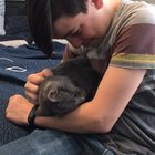 13 year old boy has wanted a cat for YEARS...this is him holding his new cat for the first time (OC)
