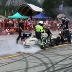 This bike stunt gone wrong.