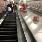 WCGW sliding in the middle of the escalator