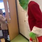 The Grinch visits an elementary school
