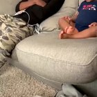 Watch this baby have a full conversation with his dad
