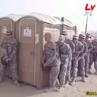 12 soldiers cram into a portapotty