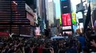 New York Time Square sings