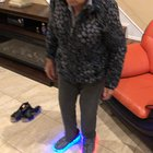 My 92 year old Grandma really feeling her Lit up shoes.