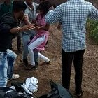 Hindu BJP RSS fanatical thugs beat up innocent girl - with full blessing of Indian government