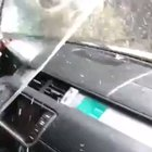 How not to wash a cars interior