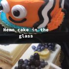 nemo cake in the glass