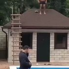 WCGW jumping from a roof