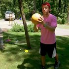 Water balloon meets bowling ball