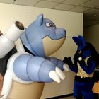 My Blastoise cosplay in action.