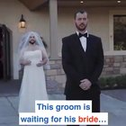 His best friend dressed as a bride