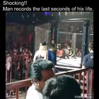 Shocking video. Man records last seconds of his life!