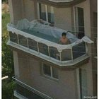 WCGW if you add a massive amount of water weight onto a balcony?